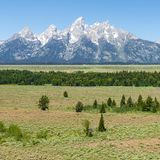 大提顿峰范围,怀俄明,美国 库存图片