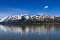 大提顿峰,杰克逊湖 免版税库存照片