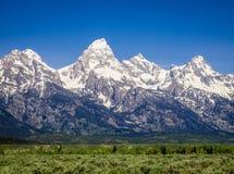 大提顿峰-登上Teton 免版税库存图片