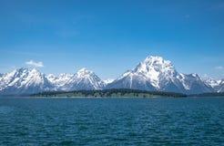 大提顿峰-湖 库存照片