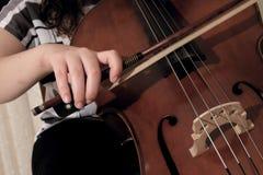 大提琴使用 免版税库存图片
