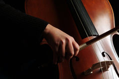 大提琴球员 库存图片