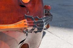 大提琴细节 免版税图库摄影