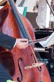 大提琴细节 免版税库存图片