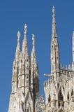 大教堂中央寺院哥特式米兰 库存照片