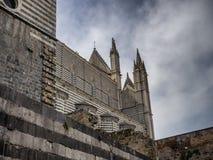 大教堂中央寺院在奥尔维耶托Umria 免版税图库摄影