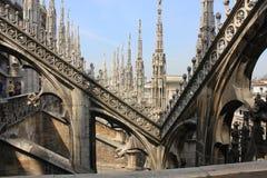 大教堂中央寺院米兰 免版税库存图片