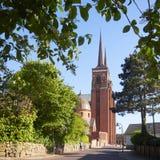 2009年大教堂丹麦遗产一罗斯基勒选址春天被采取的世界 免版税库存图片
