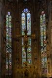 大教堂二三塔Croce的颜色和秀丽 免版税图库摄影