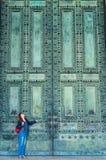 大教堂二圣乔瓦尼的门在Laterano在罗马 免版税图库摄影