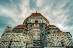 大教堂二圣塔玛丽亚del Fiore在佛罗伦萨,意大利 免版税图库摄影
