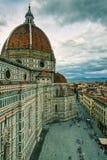 大教堂二圣塔玛丽亚del Fiore在佛罗伦萨,意大利 免版税库存图片