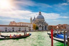 大教堂二圣塔玛丽亚della致敬在威尼斯 库存照片