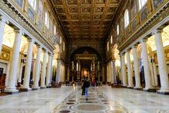 大教堂二圣塔玛丽亚Maggiore在罗马 图库摄影