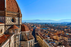 大教堂二圣玛丽亚del菲奥雷-中央寺院,佛罗伦萨,意大利 免版税库存照片