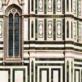 大教堂二圣玛丽亚del菲奥雷细节  库存照片