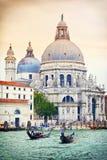 大教堂二圣玛丽亚della致敬,威尼斯,意大利 免版税图库摄影