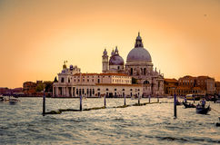 大教堂二圣玛丽亚della致敬,威尼斯,意大利 库存照片