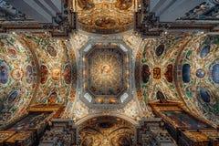 大教堂二圣玛丽亚Maggiore内部 免版税库存图片