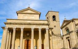 大教堂二圣马力诺,一个天主教会 免版税库存图片