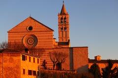 大教堂二Santa Chiara和Monstery 免版税库存图片