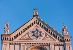 大教堂二Santa Croce,详细资料 图库摄影