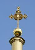 大教堂交叉波尔塔瓦svyato uspenskiy的乌克兰 库存照片