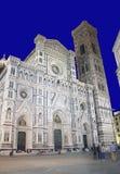 大教堂佛罗伦萨晚上 库存照片