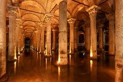大教堂储水池(伊斯坦布尔,土耳其) 库存图片