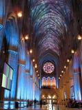 大教堂光显示 免版税库存照片