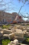 大教堂克赖斯特切奇地震恢复 库存照片