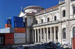 大教堂克赖斯特切奇地震恢复 库存图片
