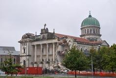 大教堂克赖斯特切奇被毁坏的地震 免版税库存图片