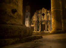 大教堂克里斯托弗・哈瓦那la圣徒 免版税库存图片