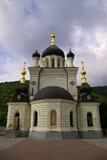大教堂克里米亚foros正统乌克兰 库存照片