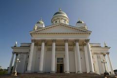 大教堂入口赫尔辛基 免版税库存照片