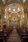 大教堂内部在Real de Catorce墨西哥 库存图片