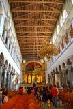 大教堂内部希腊 免版税库存图片