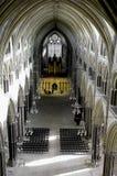 大教堂内部林肯 库存图片