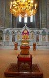 大教堂内部正统俄语 免版税库存图片