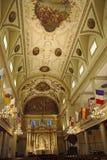 大教堂内部路易斯st 库存图片
