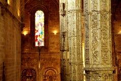 大教堂内部里斯本 免版税库存照片