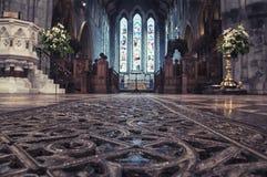 大教堂内部,爱尔兰 免版税库存照片