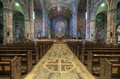 大教堂内部 库存照片
