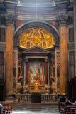 大教堂内部peters st梵蒂冈 库存照片