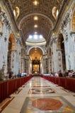 大教堂内部pietro ・圣 图库摄影
