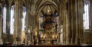 大教堂内部stephens维也纳 免版税库存图片