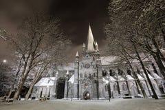 大教堂冬天 库存图片