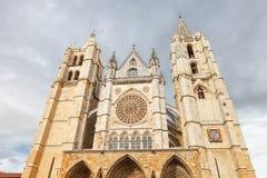 大教堂利昂西班牙 免版税库存照片