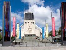 大教堂利物浦城市居民 免版税库存照片